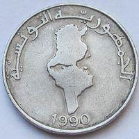 Тунис, 1 динар 1990 г