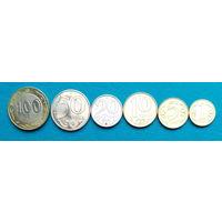 Казахстан Набор из 6 монет.  (Кириллический шрифт)  UNC
