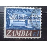 Замбия 1968 Стандарт, мост Михель-2,2 евро гаш