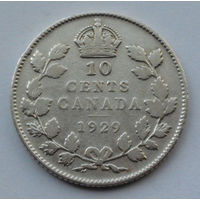 Канада 10 центов. 1929
