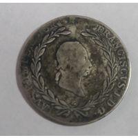 20 крейцеров 1827 г. Австрия. Серебро.