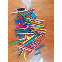 Карандаши цветные ластик
