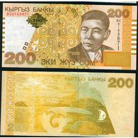 Киргизстан 200 сом 2004 UNC