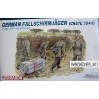 Солдаты German Fallschirmjager (Crete 1941), сборная модель 1/35 Dragon 6070