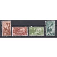 Фауна. Животные. Ифни. 1959. 4 марки (полная серия). Michel N 181-184 (1,9 е).
