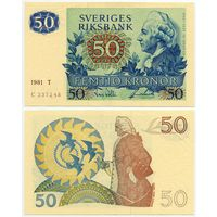 Швеция. 50 крон (образца 1981 года, P53c, UNC)