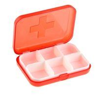 Органайзер-Таблетница карманная на 6 отсеков для хранения таблеток или других мелких предметов
