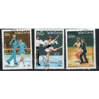 Лаос /1989/ Зимнние Олимпийские Игры / Альбервиль - 92 / Фигурное Катание / 3 Марки