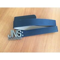 Ремень темно-синего цвета JNS Colibri28 из искусственной кожи, с красивой пряжкой. Длина 106 см, ширина 3 см. Новый. Не подошел мне.