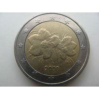 Финляндия 2 евро 2000г.   Распродажа!!!