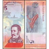Венесуэла 5 боливаров образца 2018 года UNC p102