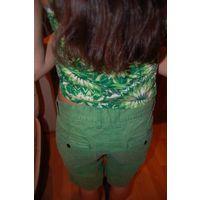Моделька года. Из серии цветной джинс. Крутые шорты. р. 44-46