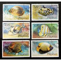 Филиппины 1978 г. Рыбы. Фауна, полная серия из 6 марок #0219-Ф1P50