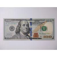 США 100 долларов 2017 UNC серия замещения (со звездой)