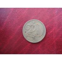 20 геллеров 1974 год Чехословакия