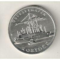 ГДР 5 марка 1988 30 лет порту города Росток