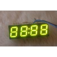 4-х разрядный цифровой зеленый LED-индикатор (для часов или таймера)