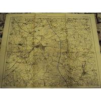 Оригинальная немецкая карта по ПМВ Барановичи-Ляховичи 1915г