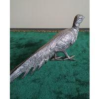 Птица статуэтка фазан павлин металл