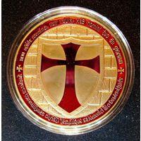 Орден Тамплиеров Пурпурный крест Золото. распродажа