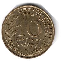 Франция. 10 сантимов. 1989 г.