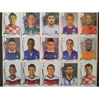 "45 наклеек из коллекции ""Panini. World Cup 2014""."