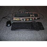 Клавиатуры и мышка,всё за 10 руб.