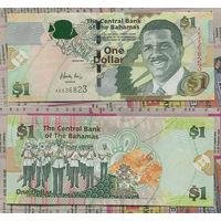 """Распродажа коллекции. Багамские острова.1 доллар 2008 года (P-71а - 2005-2015 """"CRISP Series"""" (Act 2000))"""