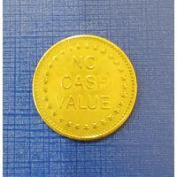 Токен- NO CASH VALUE- игровой жетон с орлом - 2-ой разновид