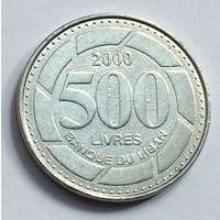 Ливан, 500 ливров 2000