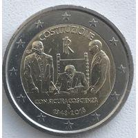 2 евро Италия 2018г. 70 лет конституции Итальянской республики