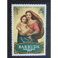Барбуда 1969 г. Рождество.