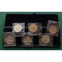 Комплект монет БАРСЕЛОНА-92 !!!ОРИГИНАЛ В РОДНОЙ УПАКОВКЕ!!!