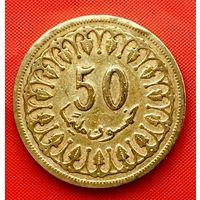 14-13 Тунис, 50 миллимов 1960 г.