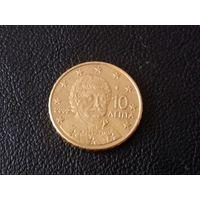 Греция 10 евроцентов 2002 г.