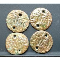 Подражание  Византии ? четыре монеты