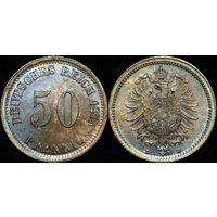 50 пфеннигов 1875 D  UNC!!!