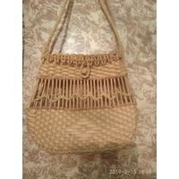 Винтажная сумочка из соломки