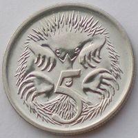 Австралия, 5 центов 1988 года, Елизавета II/ Ехидна, UNC