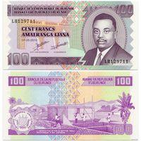 Бурунди. 100 франков (образца 2010 года, P44a, UNC)