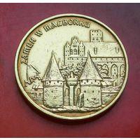 2 злотых 2002 Польша Серия Памятники культуры Замок в Мальборке (Zamek w Malborku)