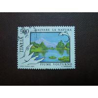 Италия 1987 г.Охрана Природы - Река Вольтурно.