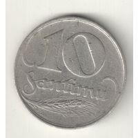 Латвия 10 сантим 1922