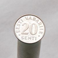 Эстония 20 центов 2004