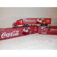 Грузовик Кока Кола трейлер Coca Cola акционный сувенирный