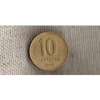 Аргентина 10 сентаво 1993(Zo)