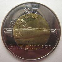 Земля Мэри Бэрд (Западная Антарктика) 5 долларов 2012 г. Кашалот (i)
