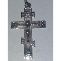 Крестик нательный серебряный 925