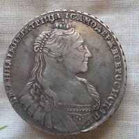 Рубль 1734 года серебро  СОХРАН