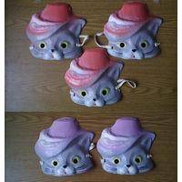 """""""Кот в сапогах"""" - детская новогодняя карнавальная маска (картон, папье-маше). (возможен обмен)"""